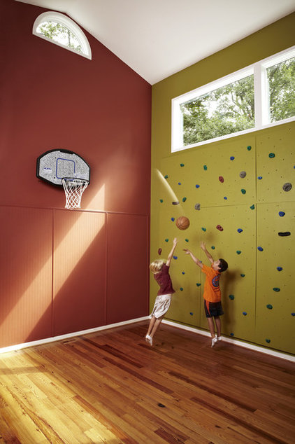 eclectic home gym by Designing Solutions