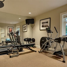 Traditional Home Gym by DME Construction