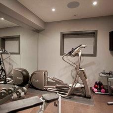 Contemporary Home Gym by Urban Abode