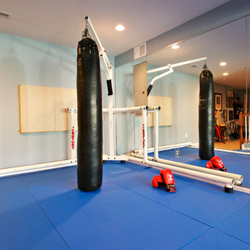 Boxing Gym with indoor speaker installation