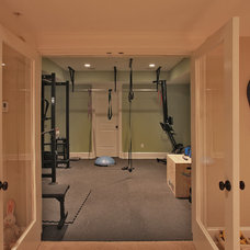 Traditional Home Gym by Finecraft Contractors, Inc.