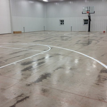 Brian B's Pro Dunk Platinum Basketball System on a 60x80 in Greenfield, OH