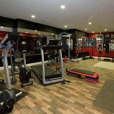 Traditional Home Gym by Claude C. Lapp Architects, LLC
