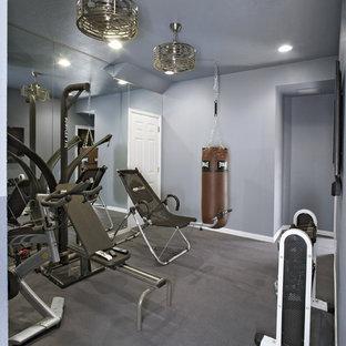 Home gym - contemporary home gym idea in Dallas