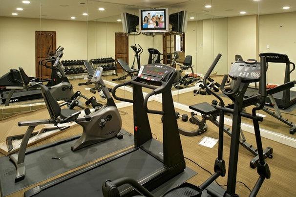 Contemporary Home Gym by Alexander Design Group, Inc.