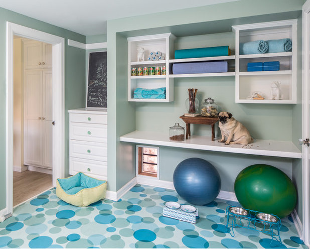 Traditional Home Gym by Shannon Ggem Design