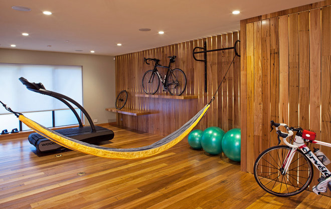 Contemporary Home Gym by Sogno Design Group