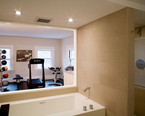 Gym bathroom home design ideas pictures remodel and decor