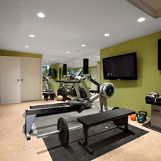 Midcentury Home Gym by CCI Renovations