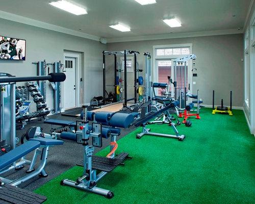 salle de musculation industrielle photos et id es d co de salles de musculation. Black Bedroom Furniture Sets. Home Design Ideas