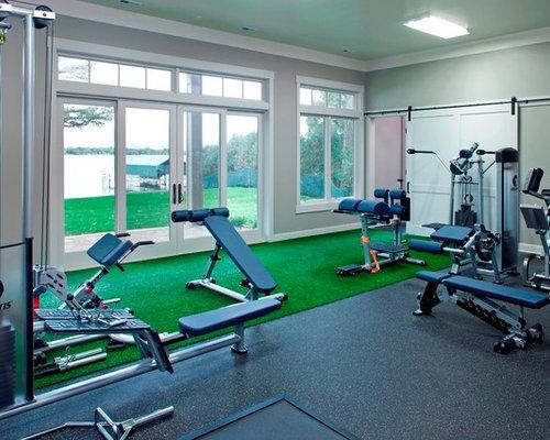 Affordable small home gym design ideas renovations photos