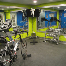 Eclectic Home Gym by Your Favorite Room By Cathy Zaeske