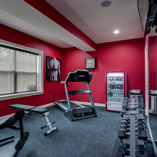 Most popular carpeted home gym design ideas for stylish