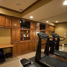 Traditional Home Gym by DURST & GANS BUILDING CORP