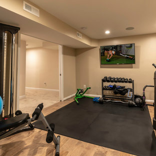 75 most popular shabbychic style home gym design ideas