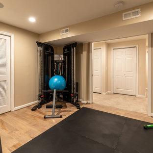 Shabby-Look Fitnessraum in Washington, D.C.