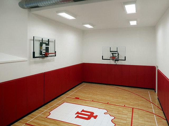 Basement floor plan for house plan with basketball court for Basement sport court
