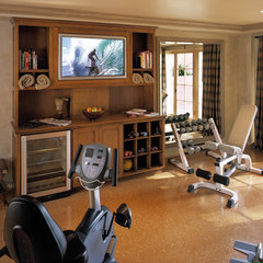 traditional home gym by Reaume Construction & Design