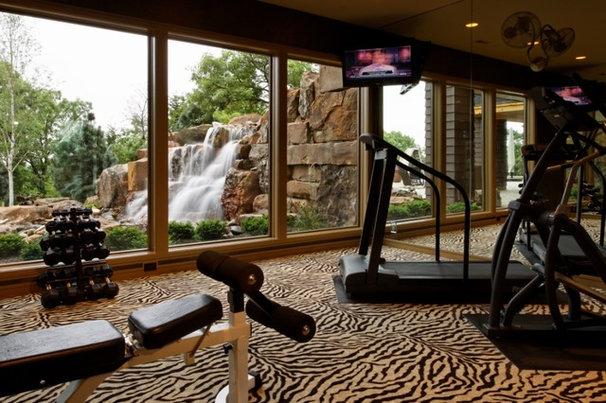 Traditional Home Gym by Curt Hofer & Associates