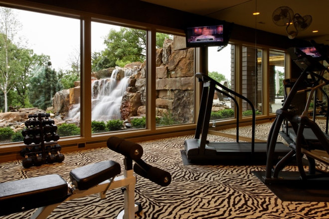 Traditional Home Gym by Curt Hofer & Associates