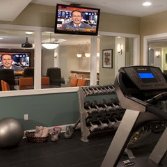 contemporary home gym by Stone-Glidden, Inc