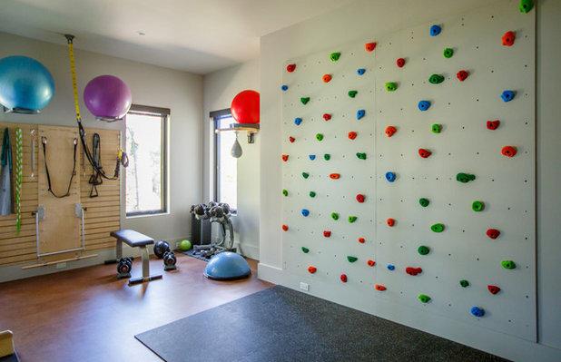 コンテンポラリー ホームジム Contemporary Home Gym