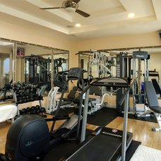 Contemporary Home Gym by Weiss Design Group, Inc.