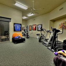 Contemporary Home Gym by Fratantoni Luxury Estates