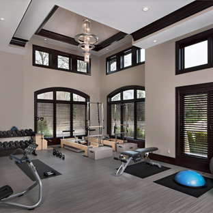 Example of a home gym design in Detroit
