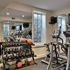 Traditional Home Gym by Crisp Architects