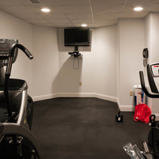 Contemporary Home Gym by Michael Robert Construction