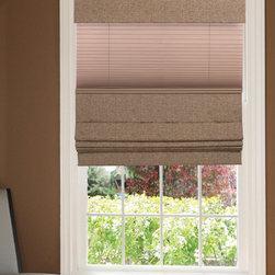 Custom Roman Shades / Blinds - LIGHT FILETERING ROMAN SHADES - www.ddccustomwindowfashions.com -Design your own custom roman shades / roman blinds & side panels for your home with your choice of over 2000 distinctive fabrics, modern styles, and multiple options.