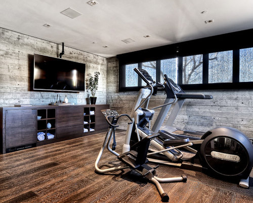 Contemporary Home Gym Design Ideas Pictures Remodel  Decor