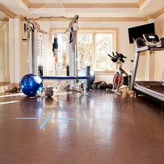 traditional home gym by Carpenter Construction, Inc.