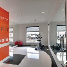 Contemporary Home Gym by Kanvi Homes