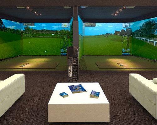 Indoor golf room home design ideas pictures remodel and for Indoor golf design