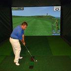 Custom Indoor Golf Simulator For Home Family Room