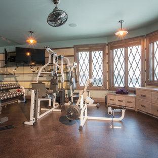 Most popular traditional calgary home gym design ideas for