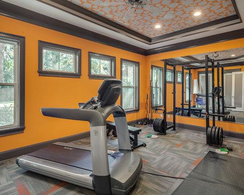 salle de musculation clectique photos et id es d co de salles de musculation. Black Bedroom Furniture Sets. Home Design Ideas