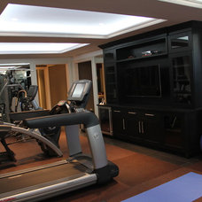 Contemporary Home Gym by CustomWorks Contracting, LLC