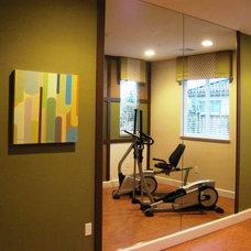 Contemporary Home Gym by Klang & Associates
