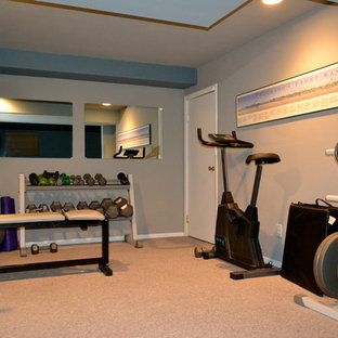 Most popular small craftsman home gym design ideas for