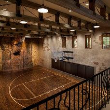 Mediterranean Home Gym by Kilbane Architecture