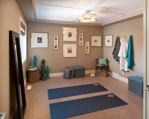 Fitnessraum mit vinyl boden und yogaraum ideen f r ihr for Boden fitnessraum