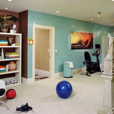 Modern Home Gym by Dominic Fusco Studios