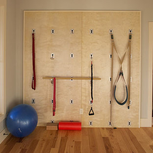 Most popular small brown home gym design ideas for