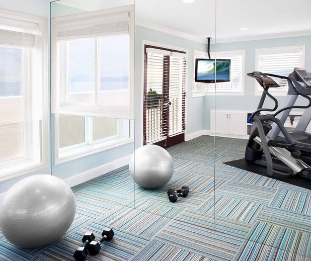 Traditional Home Gym by About Space Studios