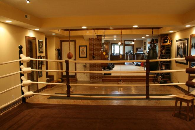 Garage boxing gym