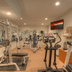 The Country Mansion Traditional Home Gym Tampa By