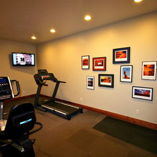 Traditional Home Gym by Markim Construction, LLC